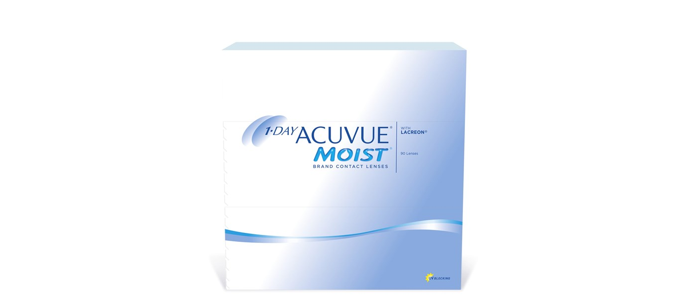 1- Day Acuvue Moist 90 pack
