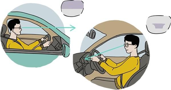 La conduite avec des verres progressifs